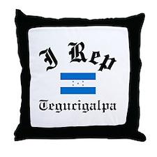 I rep Tegucigalpa Throw Pillow