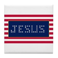 JESUS#3 Tile Coaster
