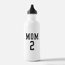 Mom of 2 Water Bottle