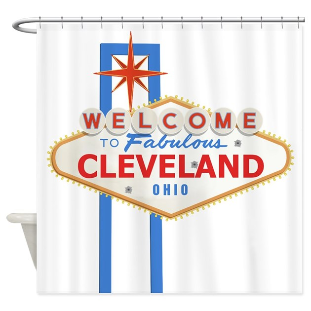 Welcome To Cleveland Shower Curtain By Welcometocleveland