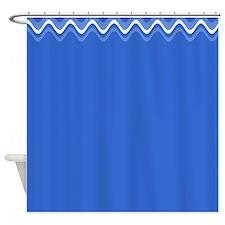 New Slate Blue Splendor 21 Shower Curtain