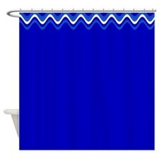 New Reimagined Royal Blue Border 3 Shower Curtains