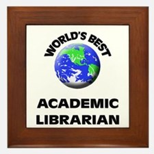 World's Best Academic Librarian Framed Tile