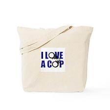 I Love a Cop Tote Bag