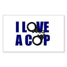 I Love a Cop Decal