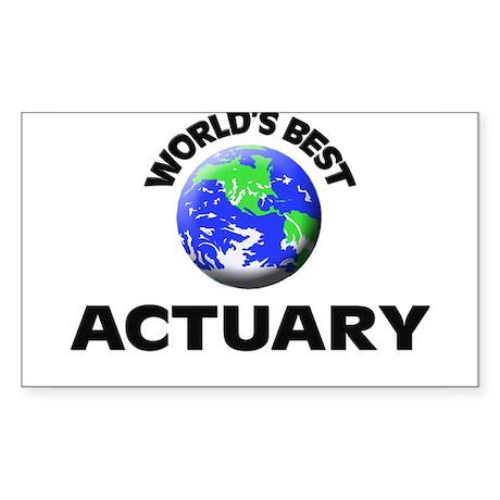 World's Best Actuary Sticker