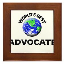 World's Best Advocate Framed Tile