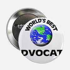 "World's Best Advocate 2.25"" Button"