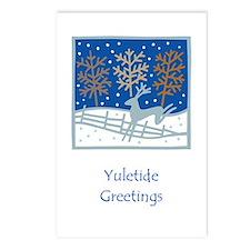 Snowy Reindeer Postcards (Package of 8)