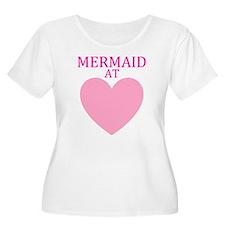 Mermaid at Heart Plus Size T-Shirt