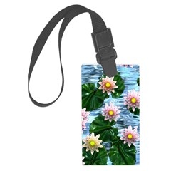 Waterlily reflections Luggage Tag