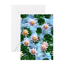 Waterlily reflections Greeting Card