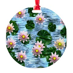 Waterlily reflections Ornament