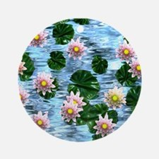 Waterlily reflections Ornament (Round)