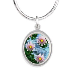 Waterlily reflections Necklaces