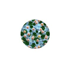 Waterlily reflections Mini Button (10 pack)
