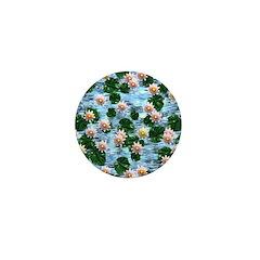 Waterlily reflections Mini Button