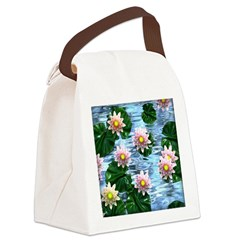 Waterlily reflections Canvas Lunch Bag