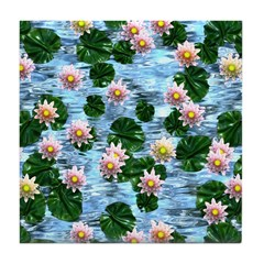Waterlily reflections Tile Coaster