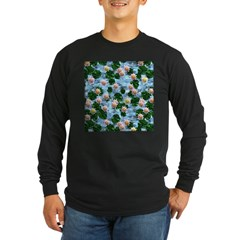 Waterlily reflections Long Sleeve T-Shirt