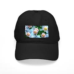 Waterlily reflections Baseball Hat
