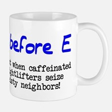 I before E except after... Small Small Mug