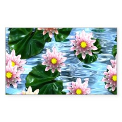 Waterlily reflections Decal