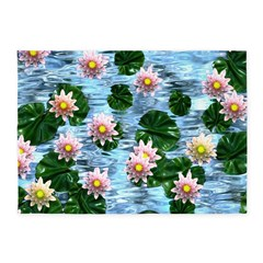 Waterlily reflections 5'x7'Area Rug