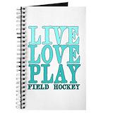Field hockey Journals & Spiral Notebooks