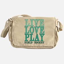 Live, Love, Play - Field Hockey Messenger Bag