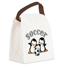 Soccer Penguin Canvas Lunch Bag