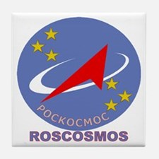 Roscosmos Blue Logo Tile Coaster