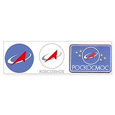 Roscosmos Blue Logo Bumper Sticker