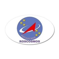 Roscosmos Blue Logo 20X12 Oval Wall Decal
