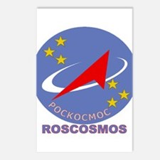 Roscosmos Blue Logo Postcards (Package of 8)