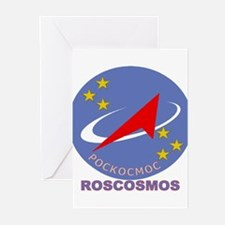 Roscosmos Blue Logo Greeting Cards (Pk of 10)