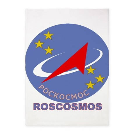 Superb Roscosmos Blue Logo 5u0027x7u0027Area Rug