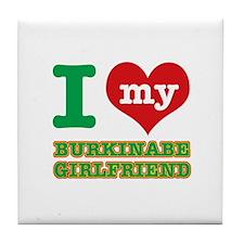 Burkinabe Girlfriend designs Tile Coaster