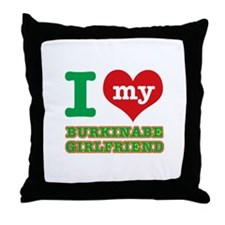 Burkinabe Girlfriend designs Throw Pillow