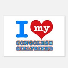 Congolese Girlfriend designs Postcards (Package of