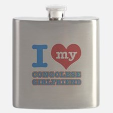 Congolese Girlfriend designs Flask