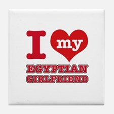 Egyptian Girlfriend designs Tile Coaster