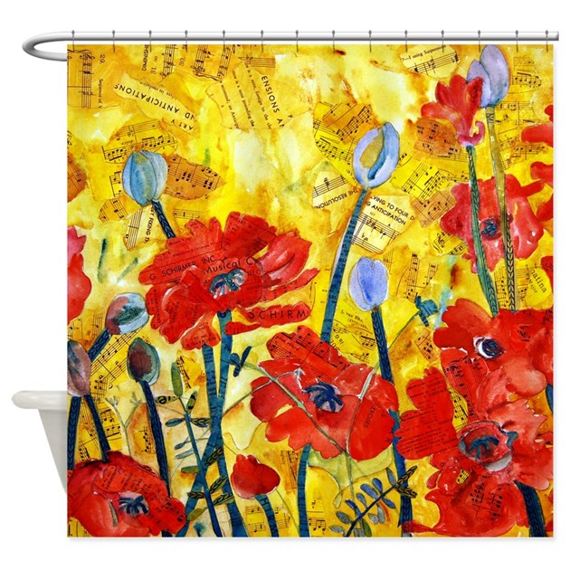 Red Poppies Shower Curtain By Schulmanart