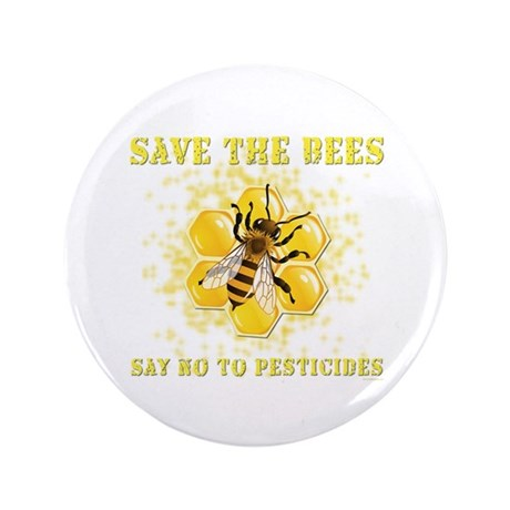 "Save The Bees 3.5"" Button (100 pack)"