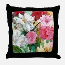 Pretty Pink Peony Throw Pillow