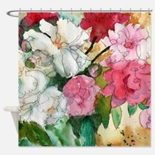 Pretty Pink Peony Shower Curtain