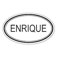 Enrique Oval Design Oval Bumper Stickers