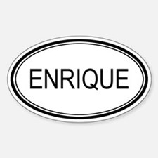Enrique Oval Design Oval Bumper Stickers