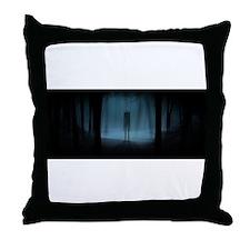 Oh No It's Slender-Man Throw Pillow