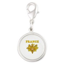 France Coat Of Arms Designs Silver Round Charm